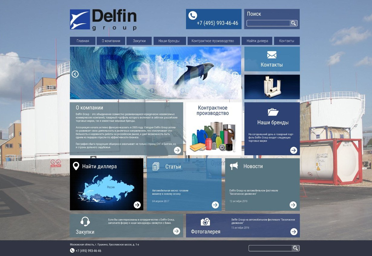 Дизайн сайта Delfin group