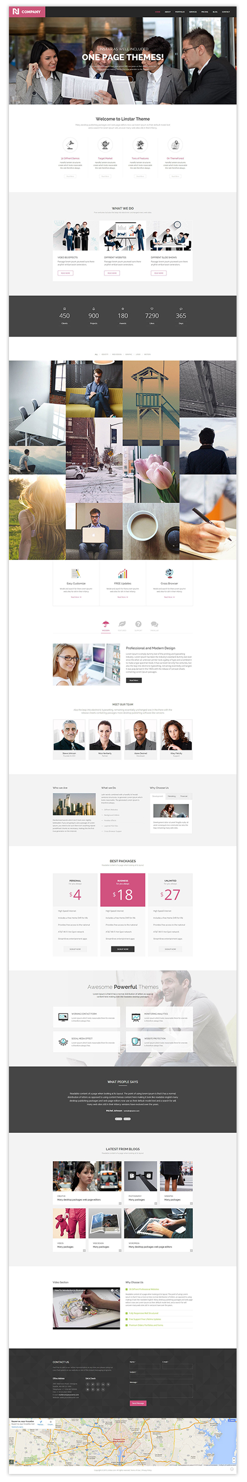 Landing Page. Business