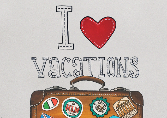 Чемодан I love vacations