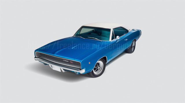 Dodge Charger в Adobe Illustrator
