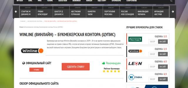 Winline зеркало сайта букмекера — доступ к Винлайн